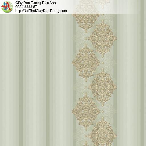 9695 Giấy dán tường sọc màu xanh lá cây nhạt, lưu ý khi sử dụng giấy dán tường