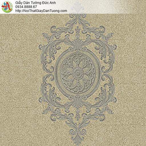 53302-4 Giấy dán tường phong cách Châu Âu cổ điển màu vàng