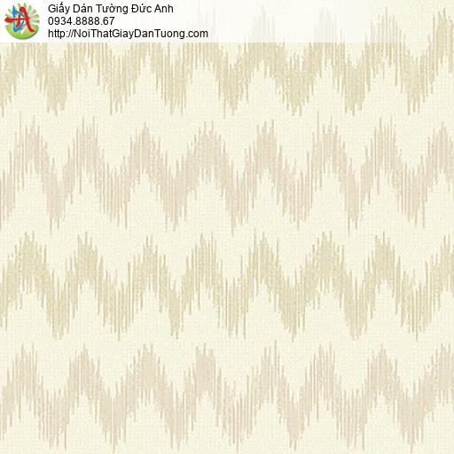 53303-1 Giấy dán tường vân sóng ngang màu vàng nhạt