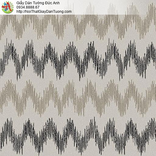 53303-3 Giấy dán tường dạng sóng màu xám, giấy dán tường ở quận 6