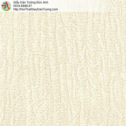 53304-1 Giấy dán tường gân to màu vàng nhạt, giấy dạng gân một màu hiện đại