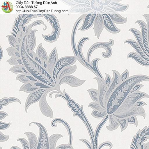 53305-2 Giấy dán tường hoa lá màu xám xanh