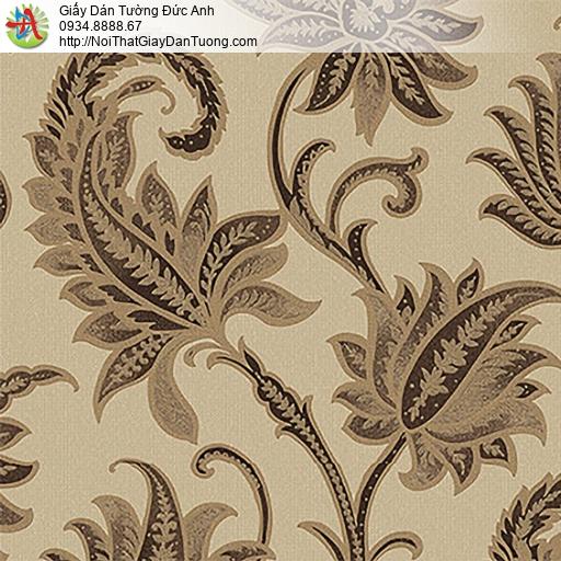53305-4 Giấy dán tường hoa lá màu vàng, giấy dán tường huyện Bình Chánh