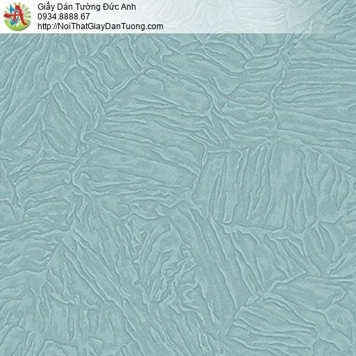 53309-4 Giấy dán tường dạng lá cây khô màu xanh, giấy gân màu xanh dương
