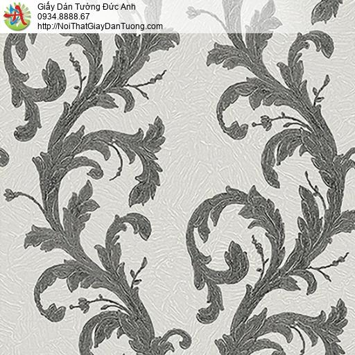53310-3 Giấy dán tường dạng dây leo màu đên, giấy dán tường Hàn Quốc
