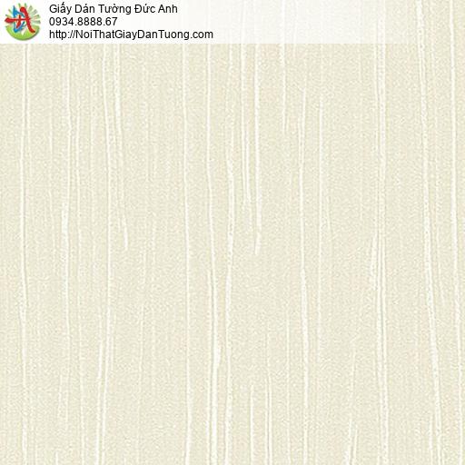 53311-1 Giấy dán tường họa tiết gân sọc nhỏ màu vàng kem, giấy gân đơn giản màu vàng nhạt