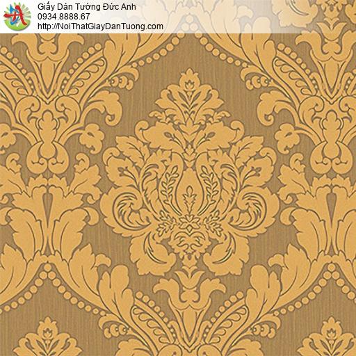 53313-4 Giấy dán tường hoa văn lớn cổ điển màu vàng đồng