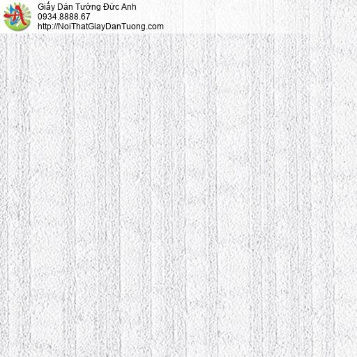 2106-1 Giấy dán tường dạng gân lớn màu trắng xám, màu xám nhạt