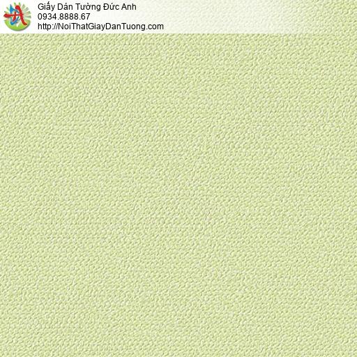 2249-5 Giấy dán tường màu xanh lá cây, giấy dán tường gân trơn đơn giản hiện đại màu xanh nõn chuối, vàng cahnh