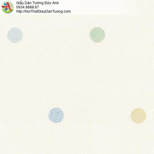 2263-1 Giấy dán tường chấm bi màu kem