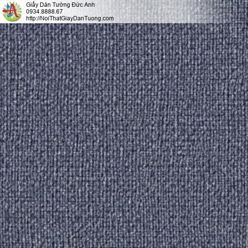 2277-10 Giấy dán tường màu xanh than, giấy gân màu xanh đen