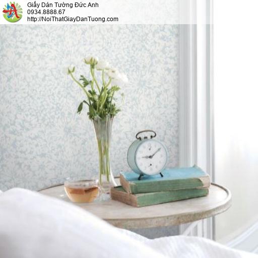 2283-2 Giấy dán tường bông hoa màu xanh dương