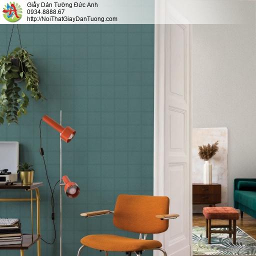 2284-2 Giấy dán tường hình ô vuông màu xanh ngọc