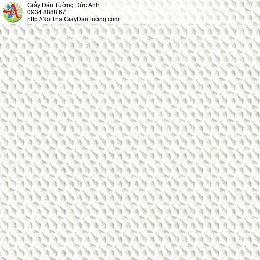 2286-1 Giấy dán tường gân 3d màu trắng, giấy dán tường hiện đại đơn giản