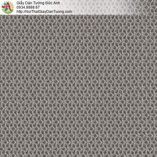 2286-4 Giấy dán tường gân 3D màu xám đậm, màu xám tối