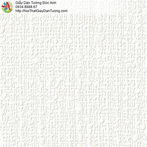 2287-1 Giấy dán tường màu trắng, giấy gân to màu trắng sáng