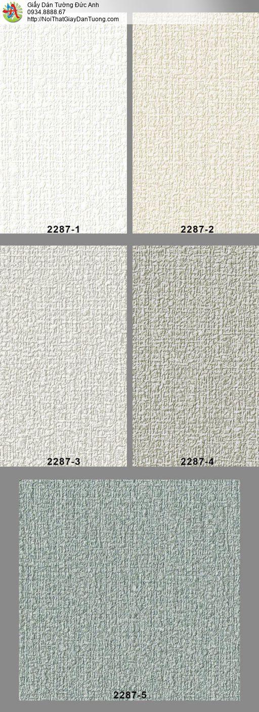 2287-5 Giấy dán tường màu xanh rêu, giấy gân to một màu hiện đại