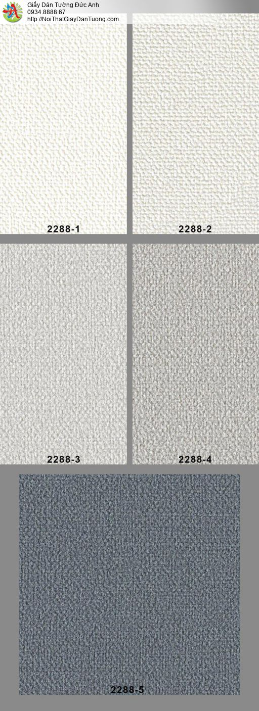 2288-3 Giấy dán tường dạng gân, giấy dán tường một màu hiện đại màu xám