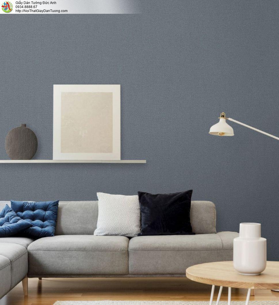 2288-5 Giấy dán tường màu đen, giấy dán tường gân thô màu xám đậm