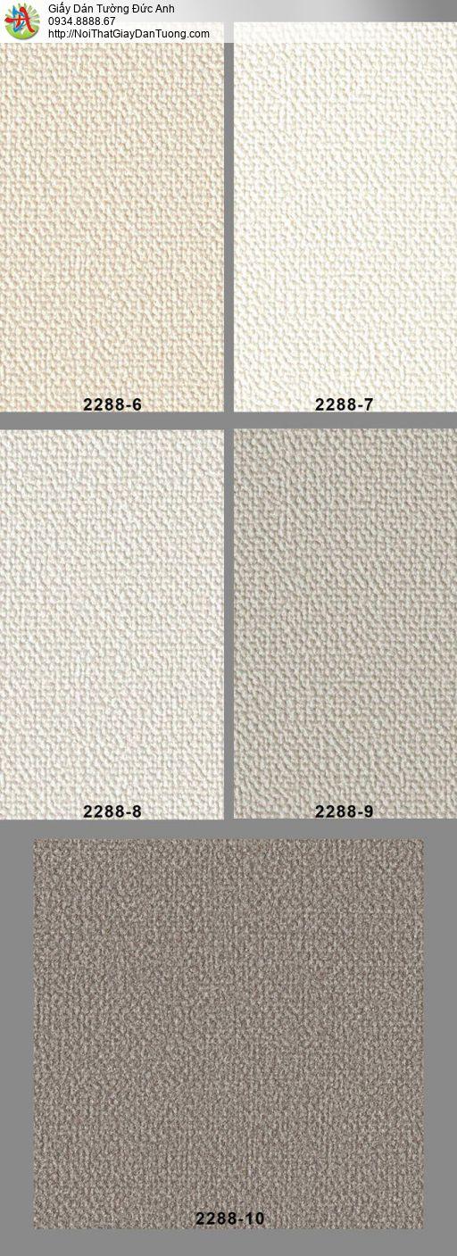2288-6 Giấy dán tường màu vàng nhạt, giấy gân trơn hiện đại đơn sắc