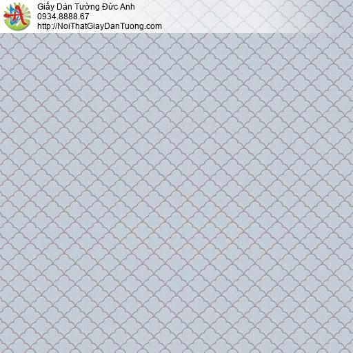 V concept 7901-3 | Giấy dán tường các đường xéo tạo thành hình con thôi ca rô màu xanh nhạt