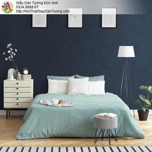 V concept 7909-8 | Giấy dán tường màu xanh than đậm, giấy dán tường trơn đơn giản màu đen