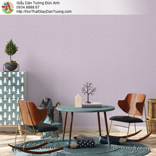V concept 7910-6 | Giấy dán tường màu tím nhạt, giấy gân trơn đơn giản hiện đại 2021
