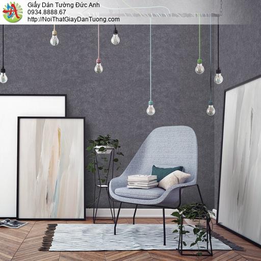 V concept 7912-6 | Giấy dán tường màu xám đậm, giấy gân to màu xám độc giống màu bê tông