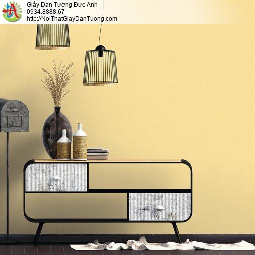 V concept 7914-3 | Giấy dán tường màu vàng hiện đại, giấy trơn gân đơn giản thay thế sơn nước không có hoa văn