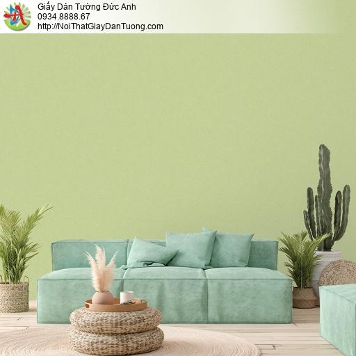 V concept 7914-8 | Giấy dán tường màu xanh lá cây, giấy gân trơn đơn giản một màu xanh nõn chuối