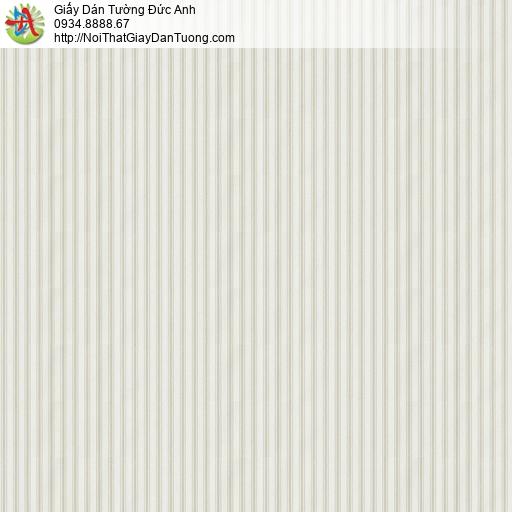 V concept 7916-1 | Giấy dán tường kẻ sọc nhỏ màu xám nhạt, giấy sọc màu kem hiện đại