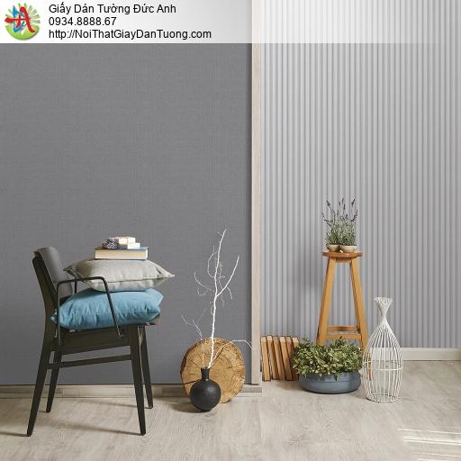 V concept 7916-4 | Giấy dán tường kẻ sọc màu xám nhạt, giấy dạng sọc hiện đại đẹp