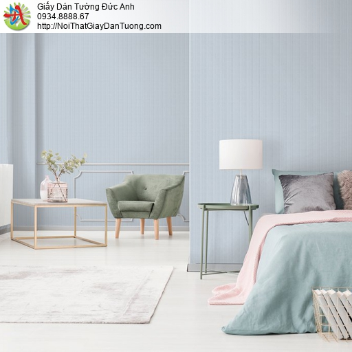 V concept 7918-2 | Giấy dán tường màu xanh nhạt, giấy dạng sọc màu xanh lợt hiện đại