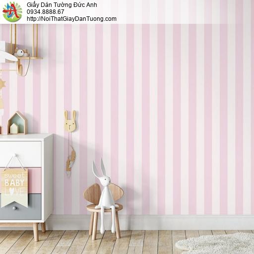V concept 7922-4 | Giấy dán tường kẻ sọc thẳng màu hồng màu trắng