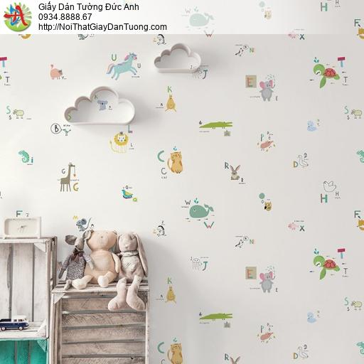 V concept 7923-1 | Giấy dán tường hình các con thú dễ thương cho bé yêu, giấy dán tường trẻ em