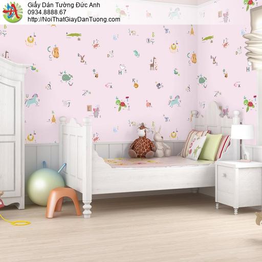 V concept 7923-3 | Giấy dán tường hình những con thú nhỏ màu hồng dễ thương cho bé gái