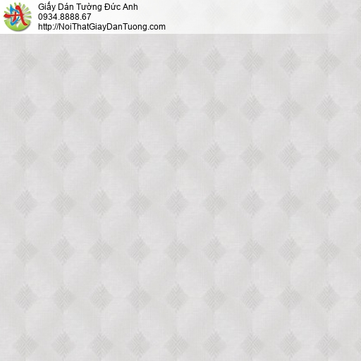Vila 1003-1 | Giấy dán tường họa tiết ca rô màu xám nhạt, hoa văn hình con thoi