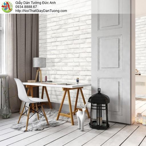 Soho 56094-1 | Giấy dán tường giả gạch màu trắng, giấy giả gạch 3D màu trắng