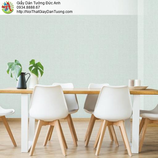 Soho 56108-3, Giấy dán tường màu xanh lá nhạt, giấy gân đơn giản hiện đại màu xanh