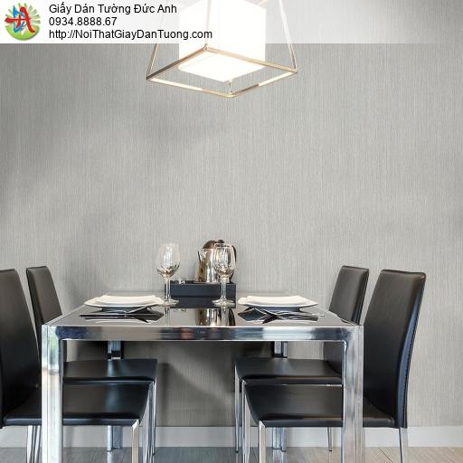 Mozen 61001-3, Giấy dán tường gân lớn sọc nhỏ nhuyễn màu xám, giấy dán tường hiện đại