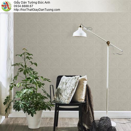 Mozen 61004-2, Giấy dán tường hoa văn họa tiết ca rô kẻ xéo hình vuông màu xám