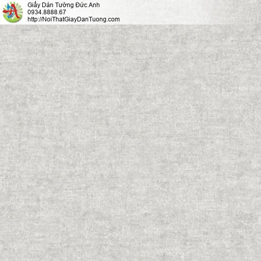 Mozen 61007-3, Giấy dán tường không có hoa văn màu xám nhạt, giấy gân trơn đơn giản hiện đại một màu