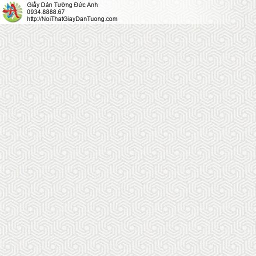 Mozen 61008-1, Giấy dán tường họa tiết lục giác xoáy ốc, các hình xoáy ốc tạo thành hình lục giác nhỏ màu trắng xám