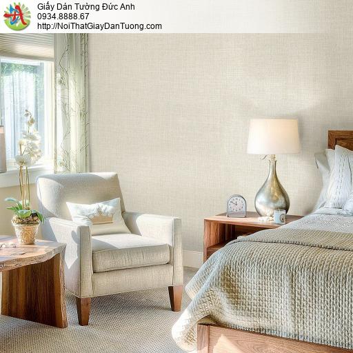 Mozen 61011-2, Giấy dán tường đơn giản một màu hiện đại, giấy màu vàng kem