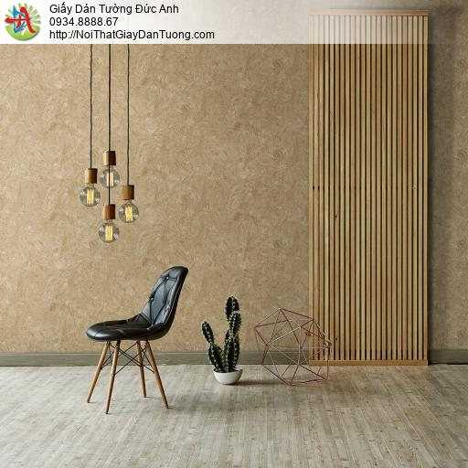 Mozen 61015-4, Giấy dán tường giả vân đá, vân gỗ màu vàng màu nâu đất