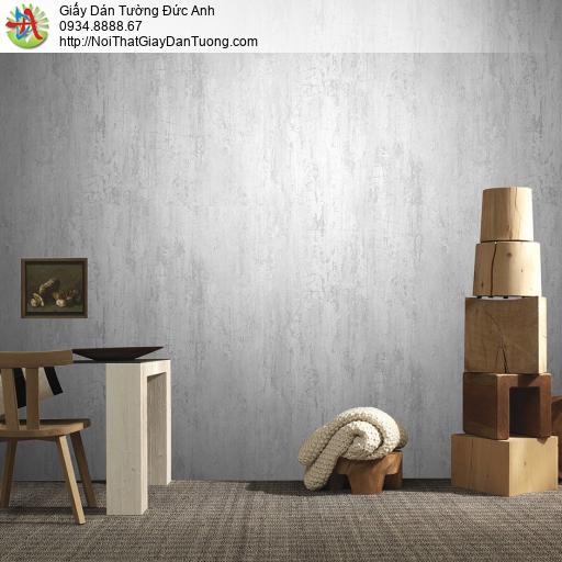 Mozen 70006-1, Giấy dán tường giả bê tông màu xám nhạt, giả vân gỗ xước