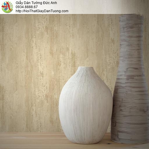Mozen 70006-2, Giấy dán tường giả vân gỗ màu vàng, giấy giả vân bê tông mà vàng nhạt
