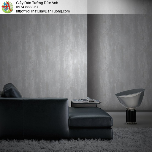 Mozen 70006-3, Giấy dán tường giả màu bê tông màu xám, giả vân gỗ màu xám tối