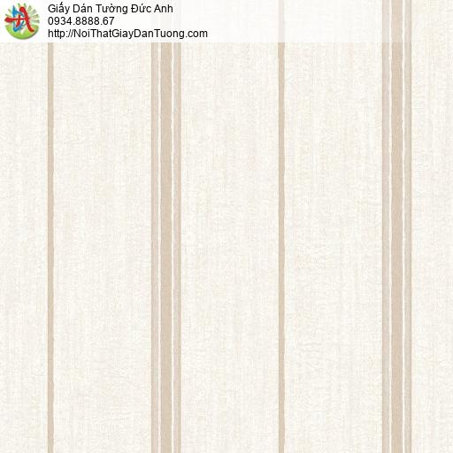Mozen 73010-2, Giấy dán tường kẻ sọc thưa màu vàng nhạt, sọc nhỏ vàng kem