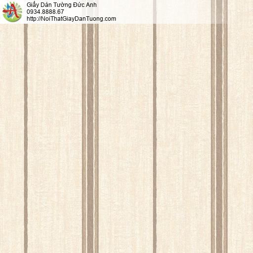 Mozen 73010-3, Giấy dán tường dạng kẻ sọc màu vàng nhạt, sọc to thưa mới